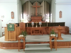 Front of the Sanctuary at Frenchtown Presbyterian Church